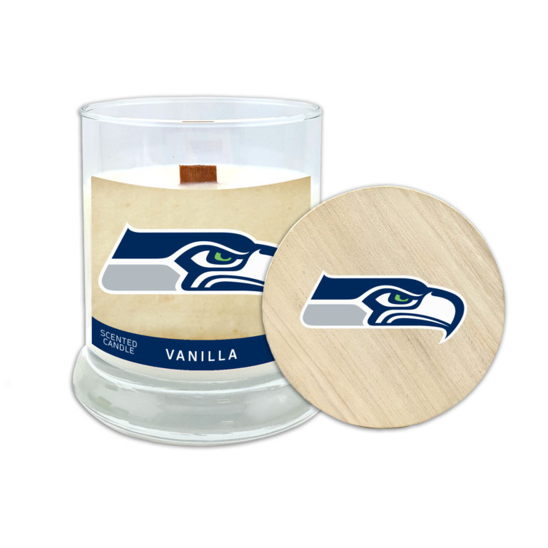 Wood Wick Worthy Promotional NFL Carolina Panthers Vanilla Scented 6 oz Soy Wax Candle
