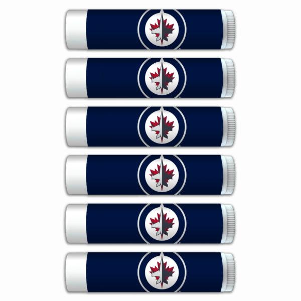 Winnipeg Jets lip balm 6-pack www.WorthyPromo.com