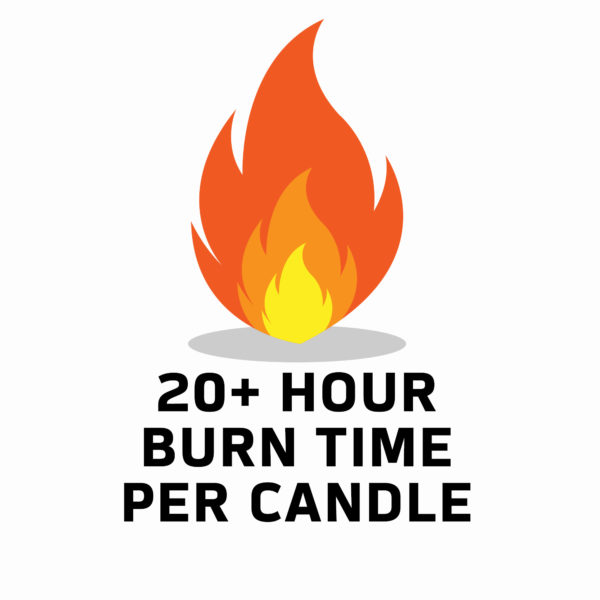 20+ hour burn time wood wick candle 2-pack www.WorthyPromo.com