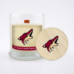 Arizona Coyotes Candle Scented Soy Wax with Wood Wick, NHL, 8oz